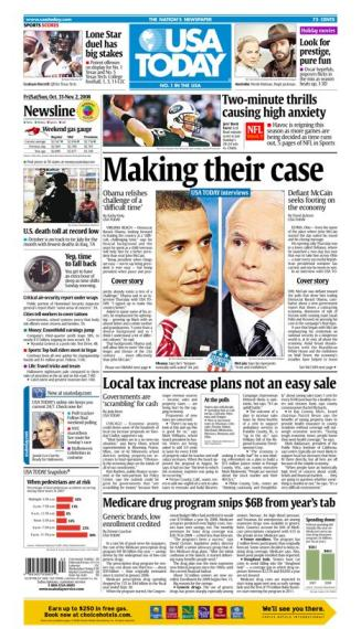 10/31/2008 Issue of USA TODAY