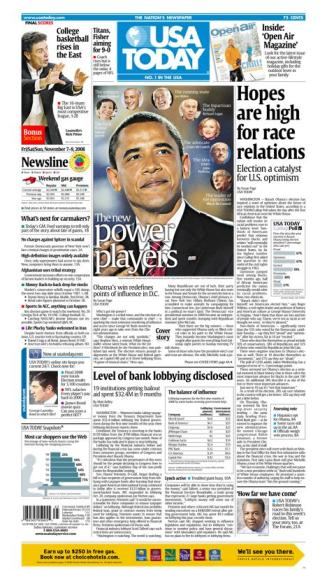 11/07/2008 Issue of USA TODAY