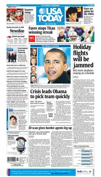 11/24/2008 Issue of USA TODAY