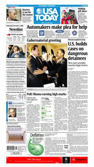 12/03/2008 Issue of USA TODAY