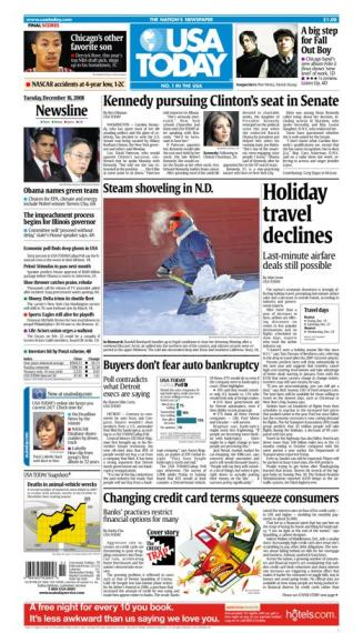 12/16/2008 Issue of USA TODAY