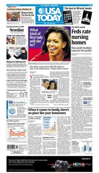 12/18/2008 Issue of USA TODAY
