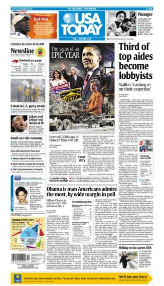 12/26/2008 Issue of USA TODAY