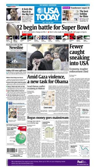 12/29/2008 Issue of USA TODAY