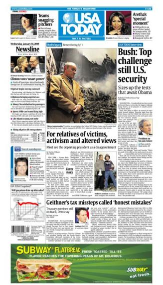 01/14/2009 Issue of USA TODAY