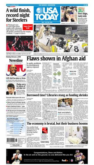 2/02/2009 Issue of USA TODAY MAIN