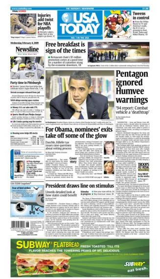 2/04/2009 Issue of USA TODAY