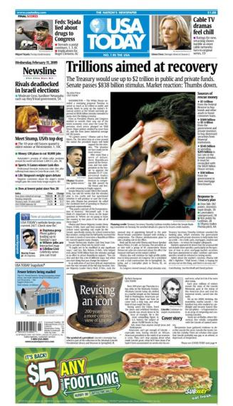 2/11/2009 Issue of USA TODAY