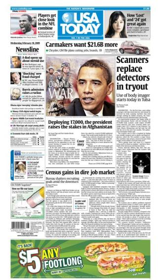 2/18/2009 Issue of USA TODAY