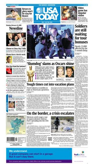 2/23/2009 Issue of USA TODAY