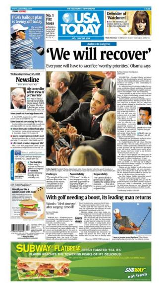 2/25/2009 Issue of USA TODAY