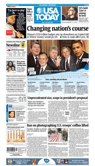 2/27/2009 Issue of USA TODAY MAIN