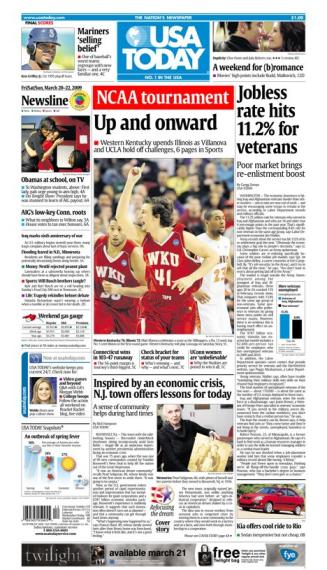 3/20/2009 Issue of USA TODAY