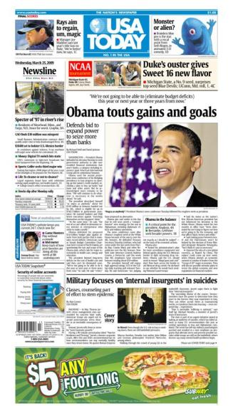 3/25/2009 Issue of USA TODAY