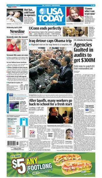 4/08/2009 Issue of USA TODAY