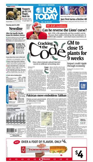4/23/2009 Issue of USA TODAY