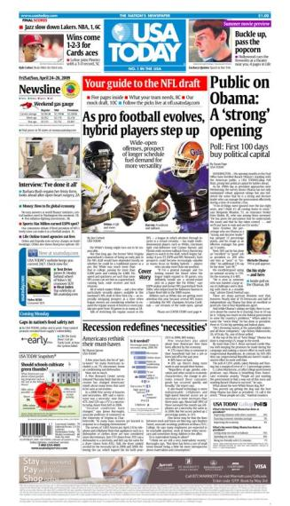 4/24/2009 Issue of USA TODAY