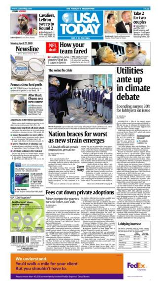 4/27/2009 Issue of USA TODAY