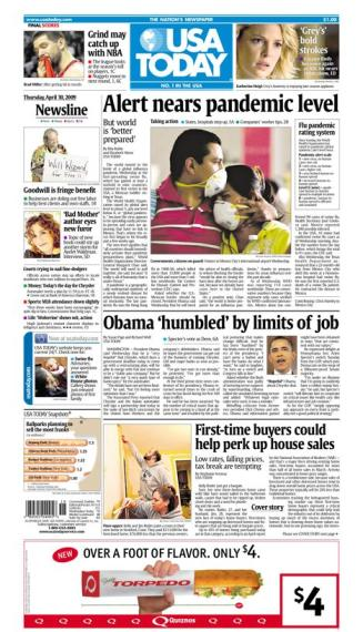 4/30/2009 Issue of USA TODAY