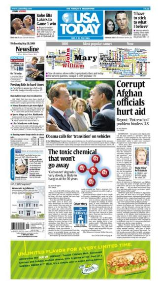 5/20/2009 Issue of USA TODAY