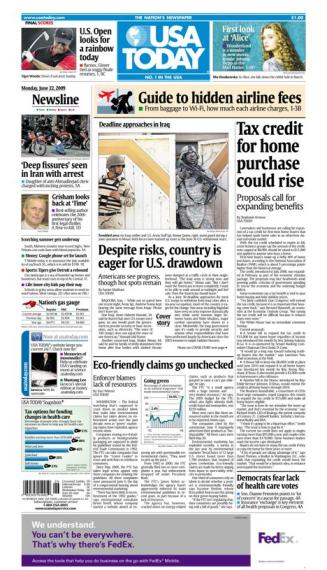 6/22/2009 Issue of USA TODAY