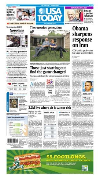 6/24/2009 Issue of USA TODAY