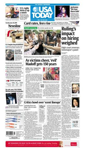 6/30/2009 Issue of USA TODAY