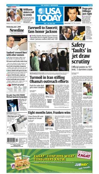 7/01/2009 Issue of USA TODAY