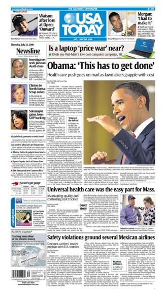 7/23/2009 Issue of USA TODAY