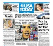 8/12/2009 Issue of USA TODAY