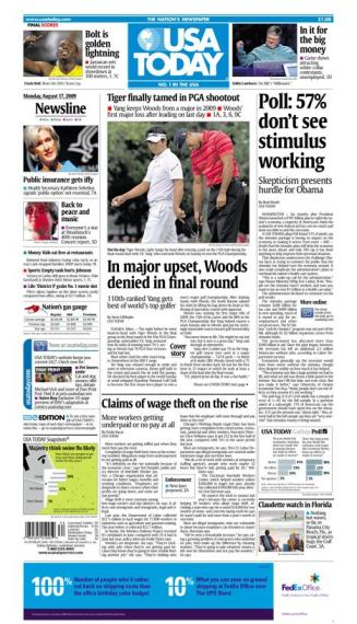 8/17/2009 Issue of USA TODAY