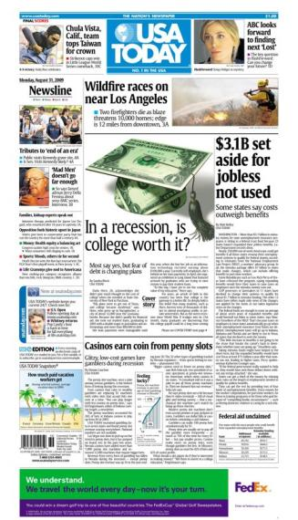 8/31/2009 Issue of USA TODAY