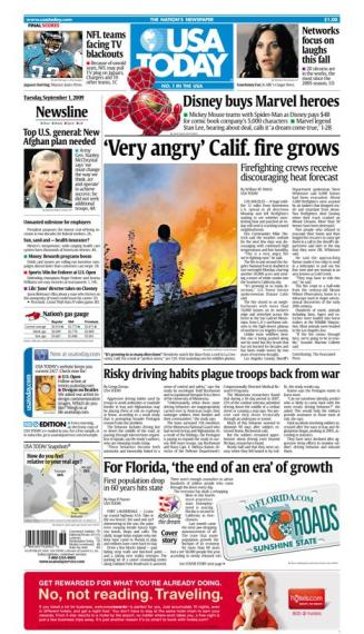 9/01/2009 Issue of USA TODAY