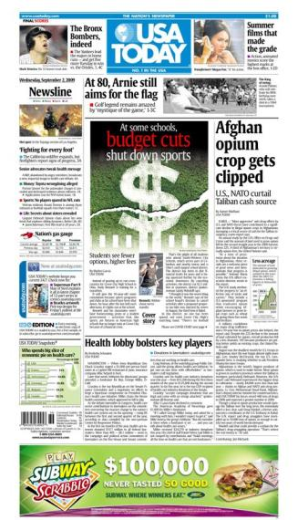 09/02/2009 Issue of USA TODAY