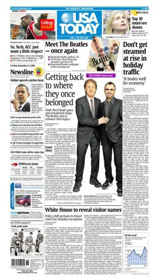 09/04/2009 Issue of USA TODAY