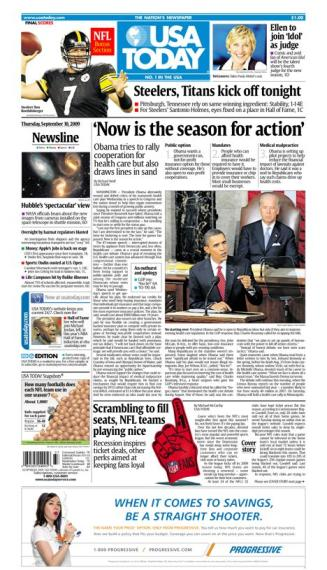 09/10/2009 Issue of USA TODAY MAIN