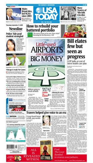 09/17/2009 Issue of USA TODAY