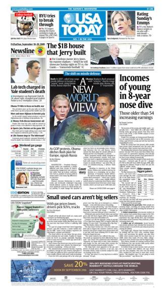 09/18/2009 Issue of USA TODAY