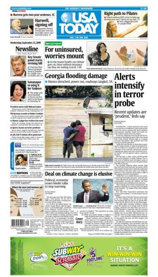 09/23/2009 Issue of USA TODAY