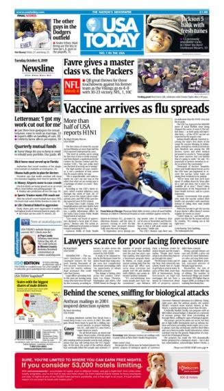 10/06/2009 Issue of USA TODAY MAIN