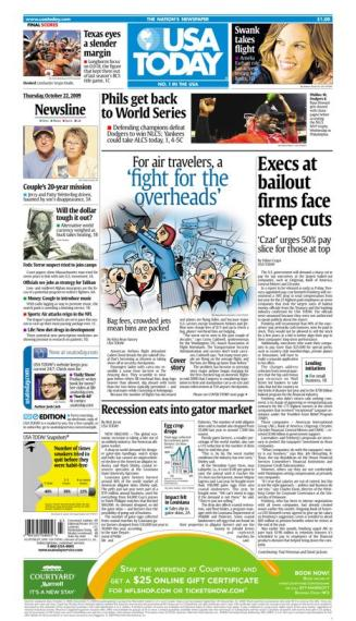 10/22/2009 Issue of USA TODAY
