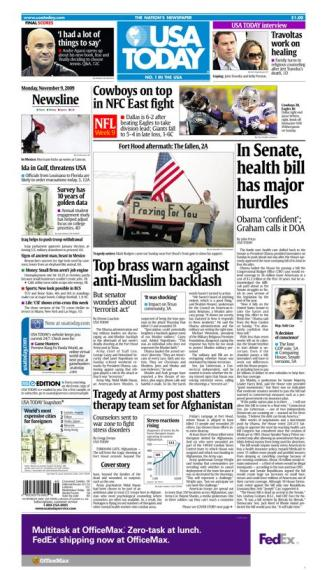 11/09/2009 Issue of USA TODAY