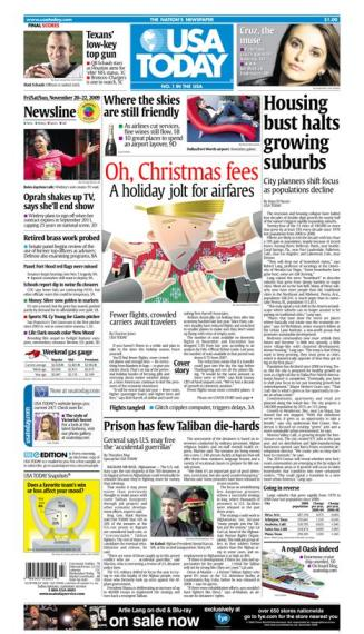 11/20/2009 Issue of USA TODAY