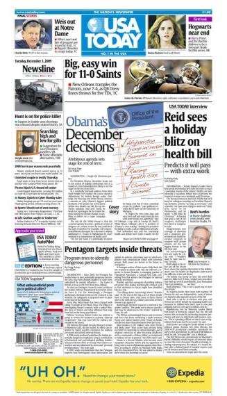 12/01/2009 Issue of USA TODAY