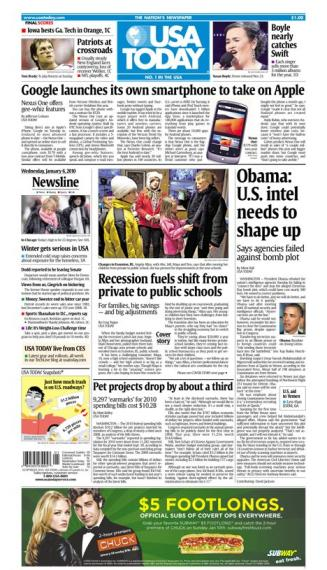 01/06/2010 Issue of USA TODAY