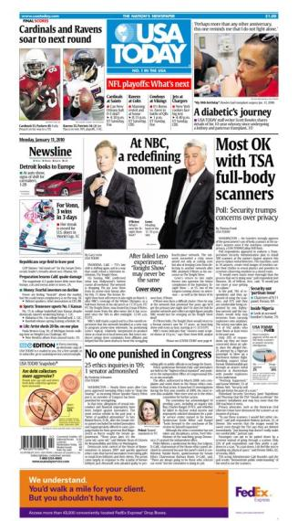 01/11/2010 Issue of USA TODAY