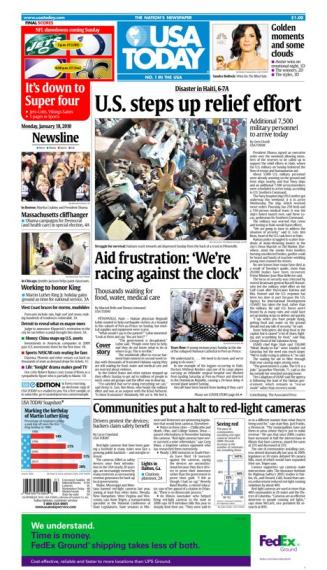 01/18/2010 Issue of USA TODAY