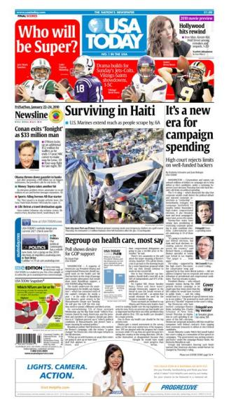 01/22/2010 Issue of USA TODAY