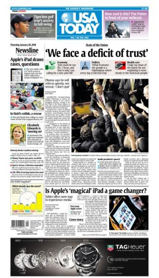 01/28/2010 Issue of USA TODAY