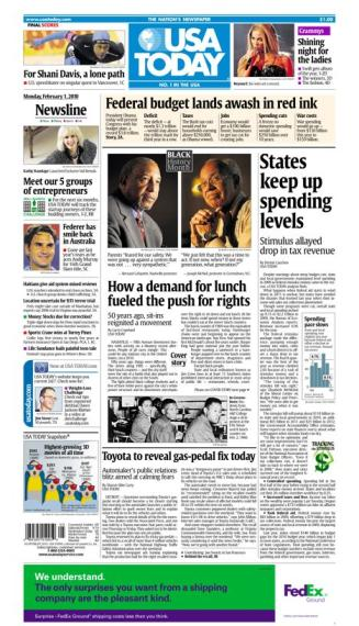 02/01/2010 Issue of USA TODAY